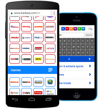 Kadaza Mobile Startpage